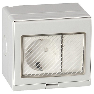 Lava intrerupator + priza schuko antigron IP55