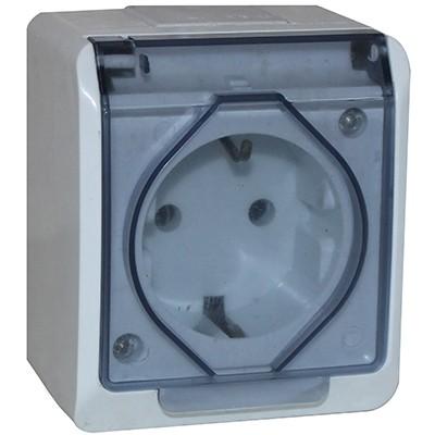 Priza schuko IP44 - capac fume