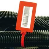Coliere din plastic cu maxi-eticheta 83 x 51 mm