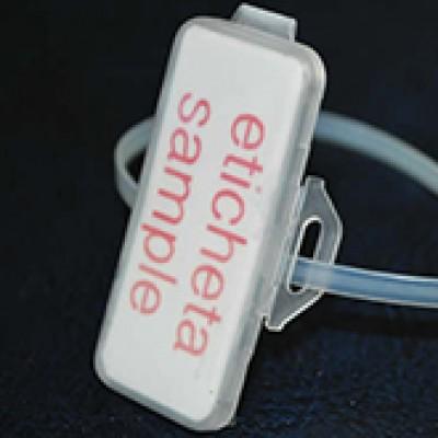 Eticheta 20x45mm cu capac transparent si suport prindere